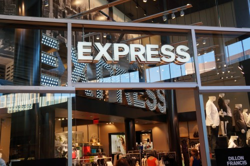 Working at express clothing store