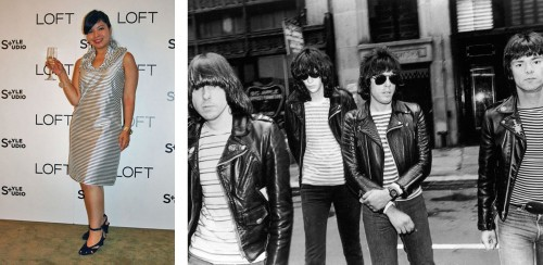 Photo Credits: Sandra Mendoza via DebutanteClothing.com; The Ramones property of Sire/Getty Images.