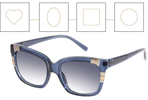 GUESS Mixed Metal and Plastic Square Sunglasses