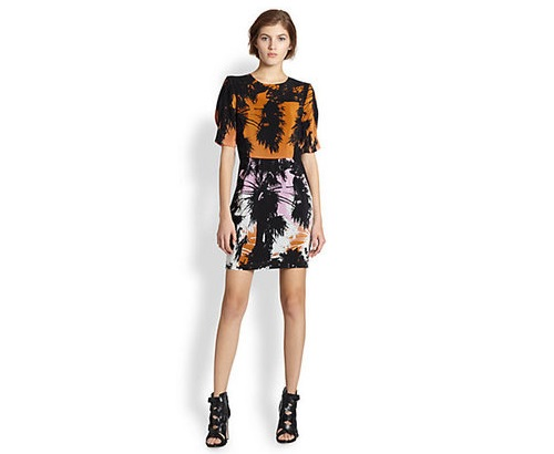 Line & Dot Silk Palm Tree Print Dress, $161.00 at Saks Fifth Avenue