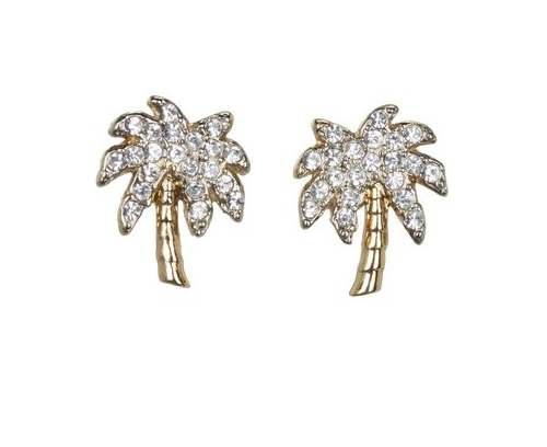 Palm Tree Stud Earrings by Juicy Couture, $42.00 at Zappos