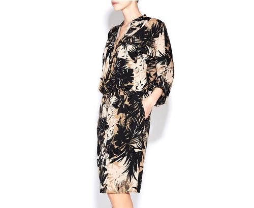 Palm Print Shirt Dress, $100.00
