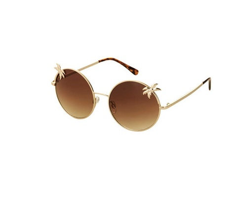 Palm Tree Round Sunglasses, $36.00 at TOPSHOP