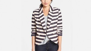 Double Breasted Stripe Blazer