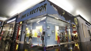 Ink & Vector Pop-Up Store Exterior
