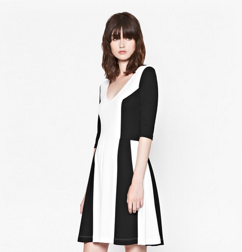 French Connection AW14 black and white dress