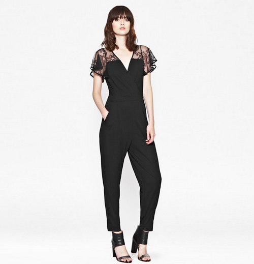 French Connection AW14 black jumpsuit