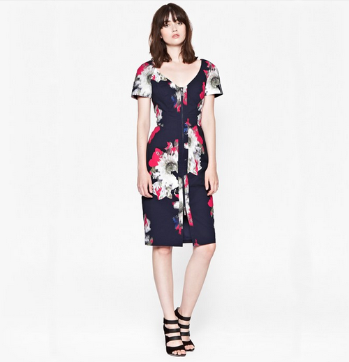 French Connection AW14 floral dress