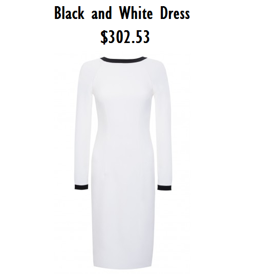 sweet chicory black and white dress