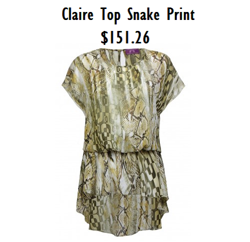 sweet chicory snake print top