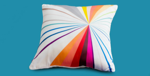 Novogratz colorwheel pillow