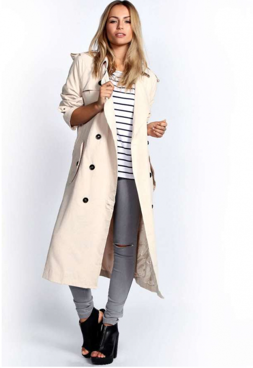 Haley Longline Fluid Trench, $80 at BooHoo.com.