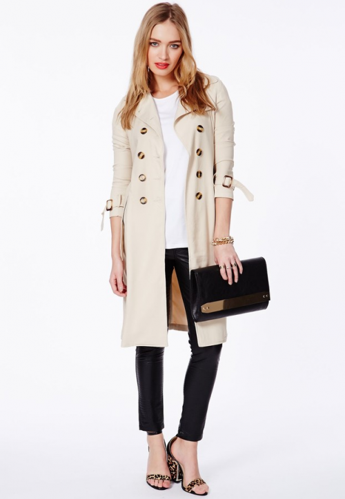Helaine Crepe Trench Coat, 66.48 at Misguided.com.