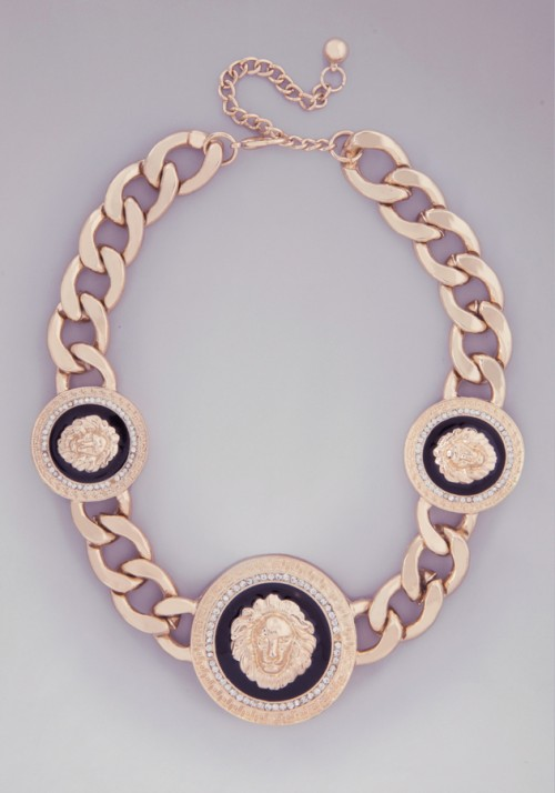Triple Lion Head Necklace, $39 at Bebe