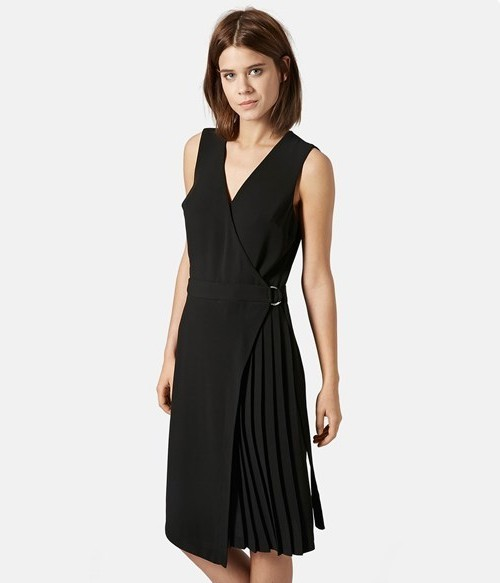 Topshop 'Jenna' Pleated Wrap Midi Dress, $105