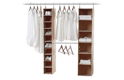 10-Shelf & Hanging Bar Closet Organizer, $59