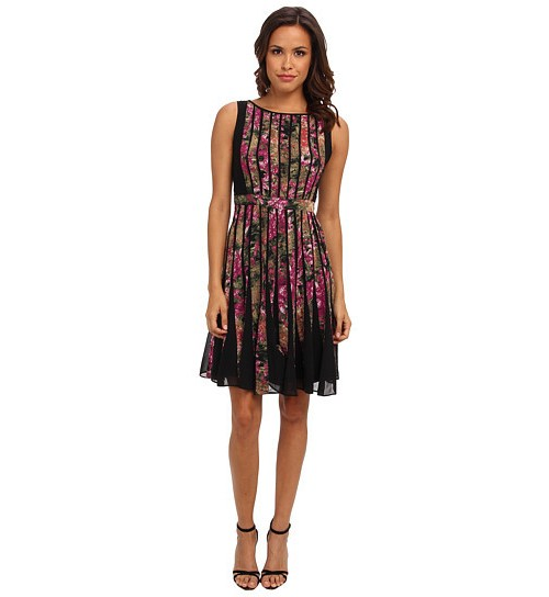 Adrianna Papell Fractured Floral Dress, $80
