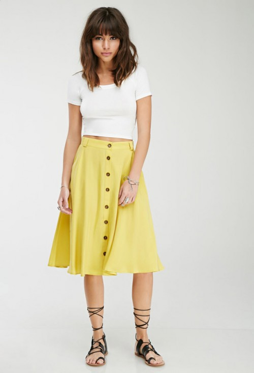 Under $100: Button Down Skirts | Lollie Shopping