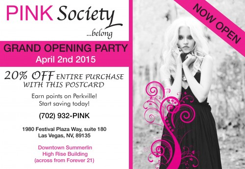PINK Society Fashion Boutique Grand Opening Party