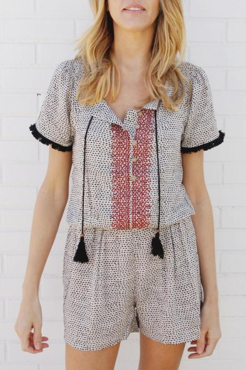 House of Lucky Romp Around Romper, $68