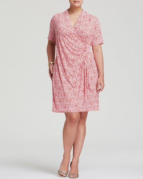 Karen Kane Plus Cascade Faux Wrap Dress, $57