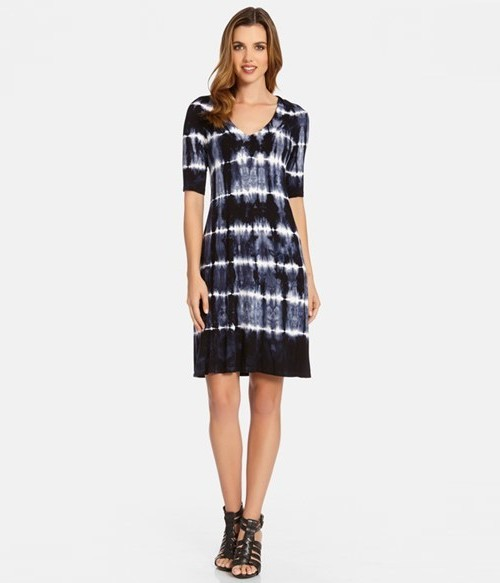 Karen Kane Tie Dye V-Neck Dress,  $71