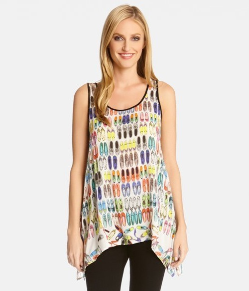 Karen Kane Handkerchief Hem Tank, on sale for  $47.40.