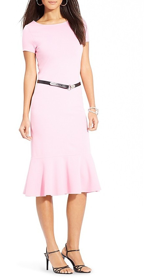 Lauren Ralph Lauren Ballet Belted Ruffle Dress, $91