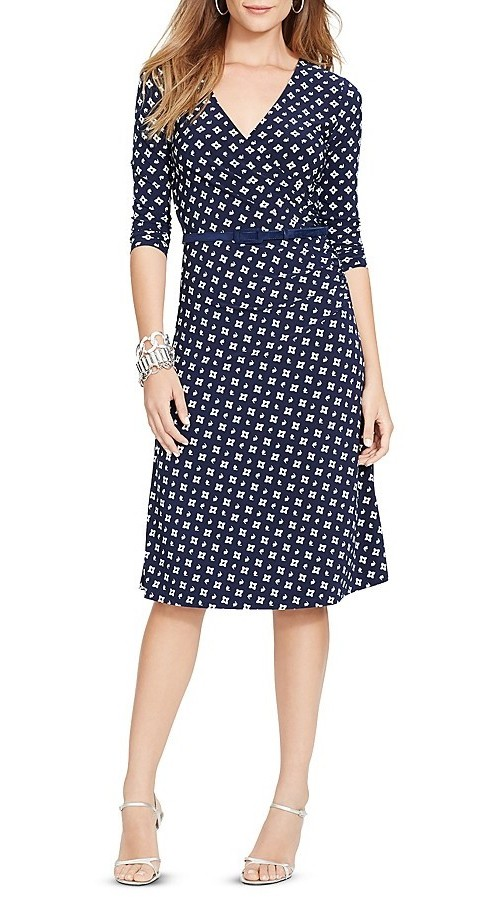 Lauren Ralph Lauren Belted Faux Wrap Dress, $54.50