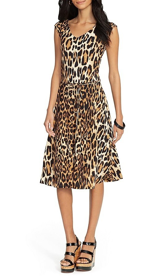 Lauren Ralph Lauren Belted Leopard Print Dress, $97.50