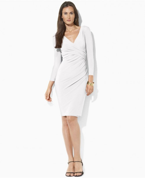 Lauren Ralph Lauren Faux-Wrap Dress, $99.99