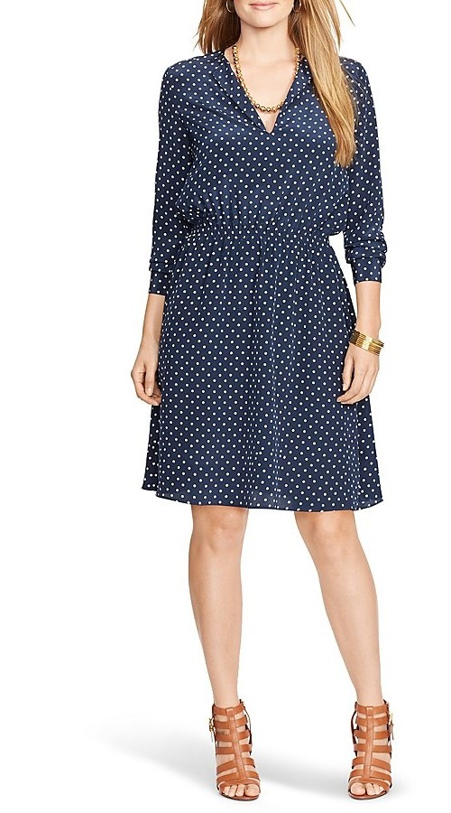 Lauren Ralph Lauren Plus Polka Dot Dress, $91