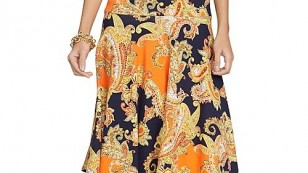 Lauren Ralph Lauren Shanbie Cap Sleeve Printed Dress $9750