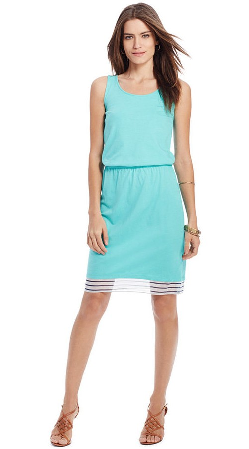 Lauren Ralph Lauren Sleeveless Scoop-Neck Dress, $98