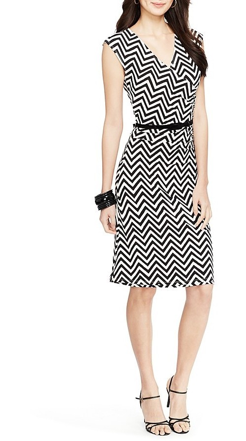 Lauren Ralph Lauren Vea Cap Sleeve Chevron Dress, $97.50