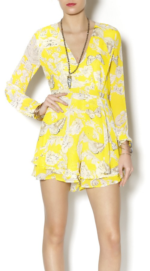 Xtaren Yellow Butterfly Romper, $37