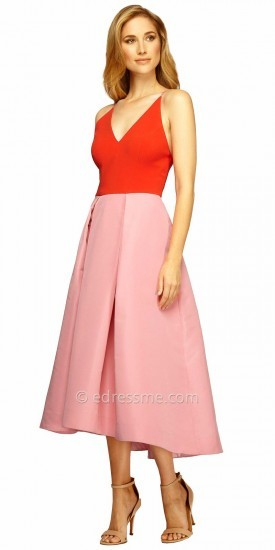 Kay Unger Colorblock Crepe Dress, $398