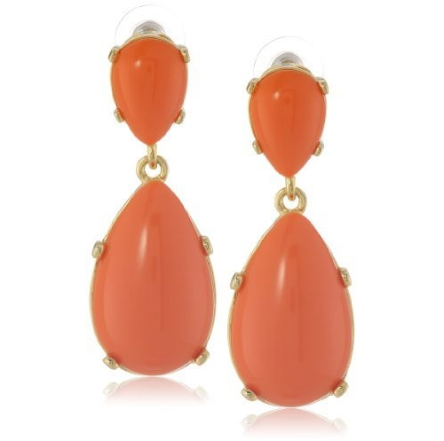 Kenneth Jay Lane Coral Drop Earrings, $100