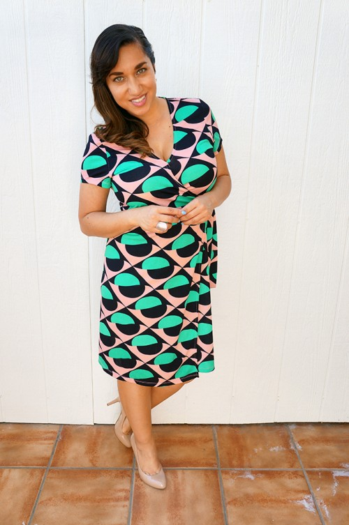 Ava wrap dress outfit of the week