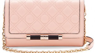 440 Large Currency Quilted Leather Crossbody Bag