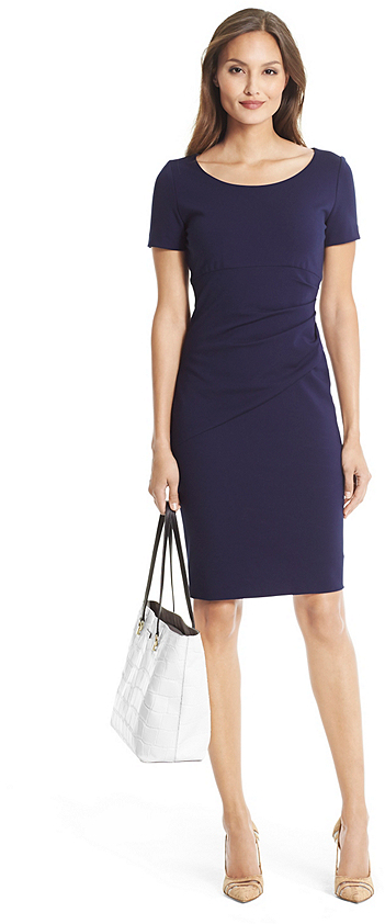 DVF Bevina Ceramic Sheath Dress on sale for $175, originally $348.