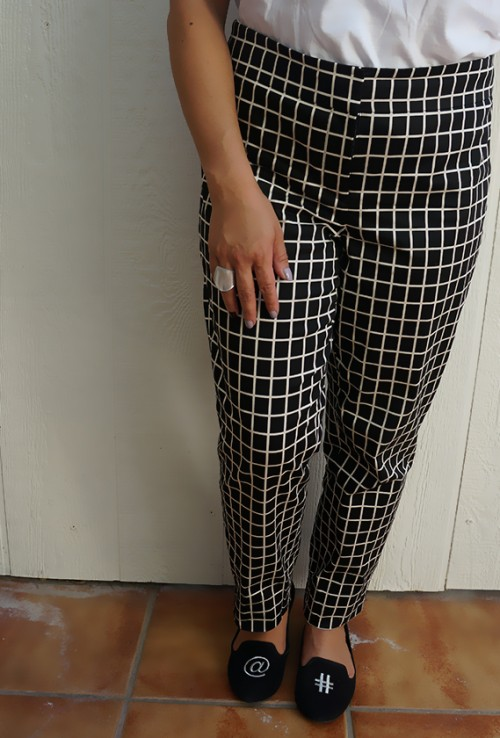 Ann Taylor windowpane pants