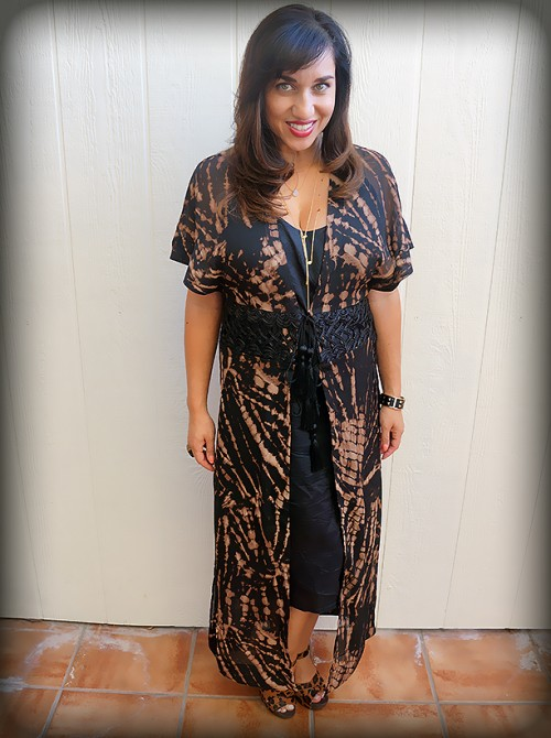 H&M Crinkled Kaftan outfit