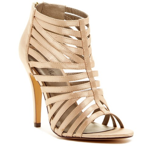 Michael Antonio Satin Cage High Heel Sandals, $27