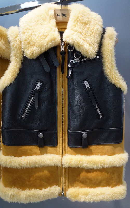 Coach leather and lambskin vest