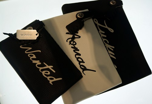 Coach limited edition leather pouches