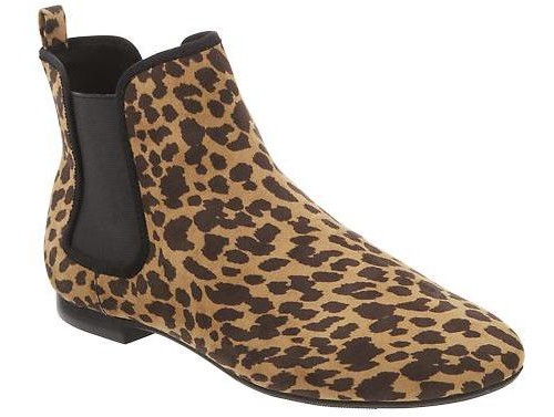 Old Navy Leopard Print Chelsea Ankle Boots, $20