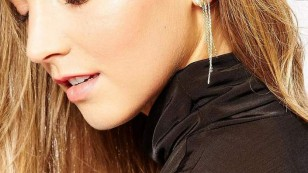orelia crystals and chain drops ear cuff at asos $36