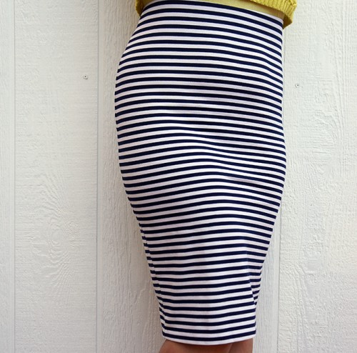 Body Collection striped pencil skirt