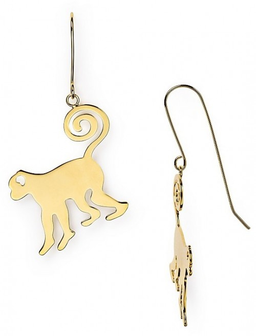 Diane von Furstenberg Monkey Earrings. $79